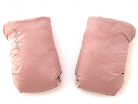 rukavice na kočík Pink Camo