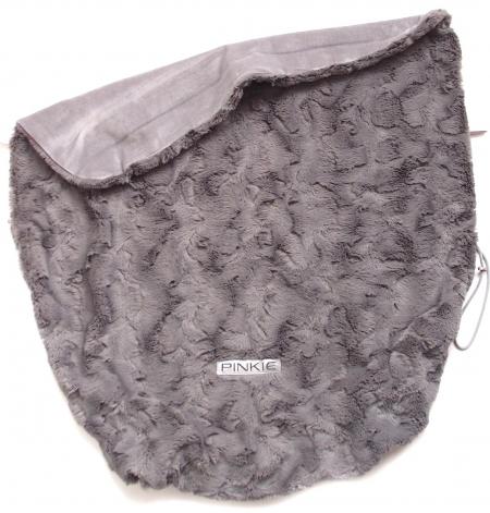 deka so sťahováním Fur Grey