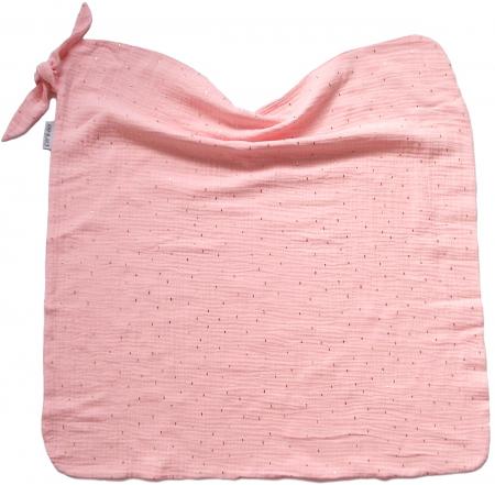 letná deka Pinkie Muslin Light Pink