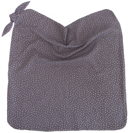 letná deka Muslin Dark Grey Dots