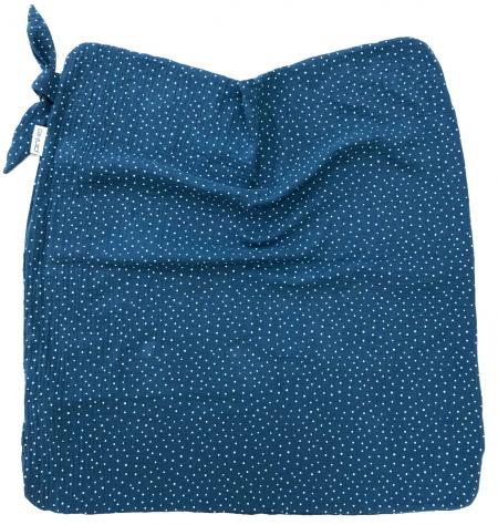 letná deka Pinkie Muslin Blue