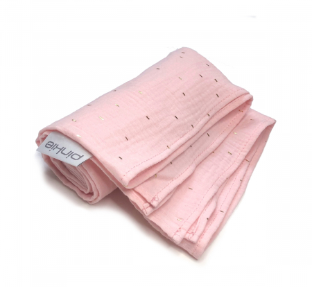 veľká plienka Pinkie Muslin Light Pink