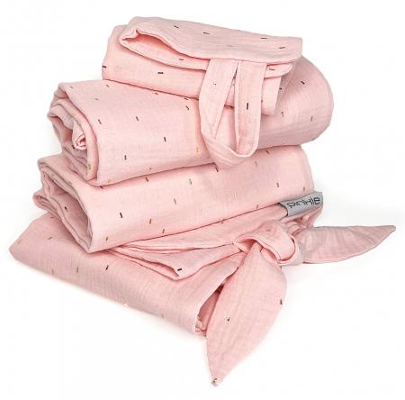 set Muslin Light Pink veľký