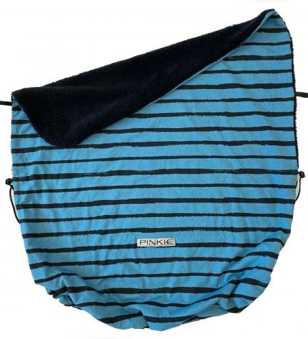 deka so sťahováním Pinkie Stripe Blue