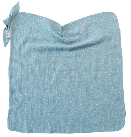 letná deka Pinkie Muslin Ocean Blue