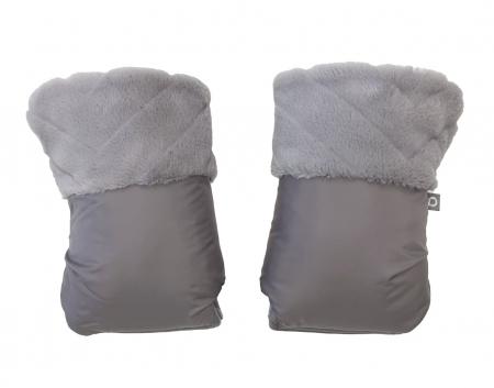 rukavice na kočík Fur Grey