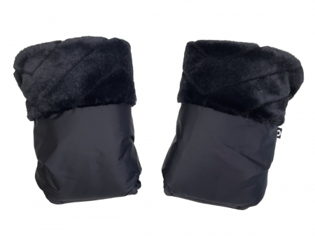 rukavice na kočík Fur Black