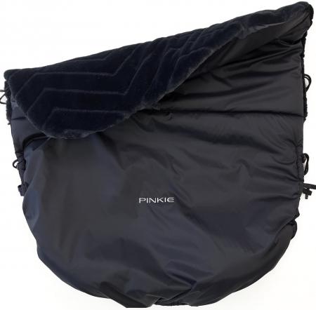 zateplená sťahovacia deka Pinkie Fur Black