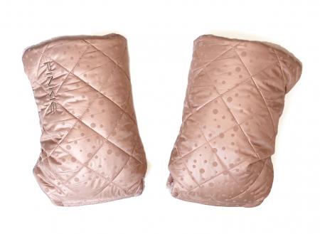 rukavice na kočík Soft Pink Dots