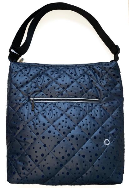 veľká taška na kočík Dark Blue Dots