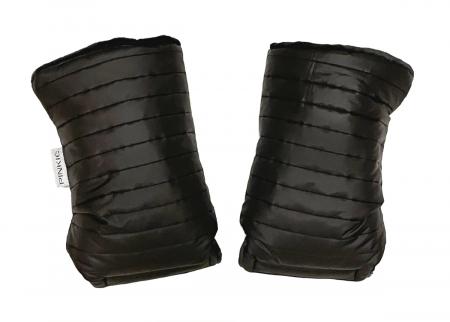 rukavice na kočík Line Black