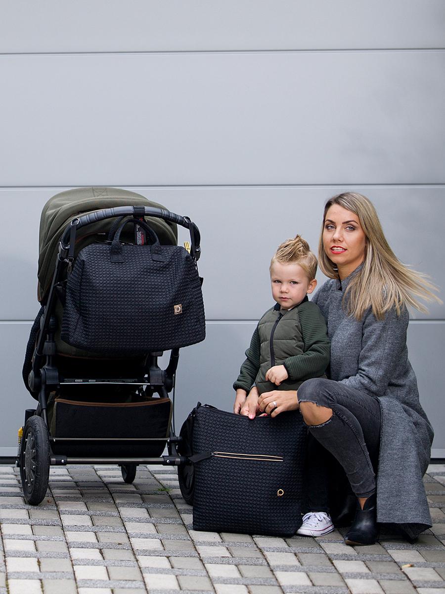kliknutít zobrazíte maximální velikost obrázku veľká taška na kočík Small Black Comb